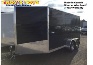7' x 14' V-Nose Utility Trailer • Made in Canada