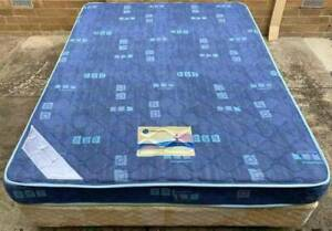Excellent spring queen bed mattress plus base. Pick up or deliver avai