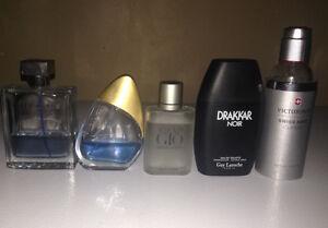 5 bouteilles de parfum usagé à vendre