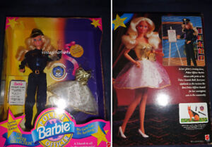 Police Officer 1993 Barbie Doll Career Collection Gift Set NEW