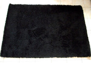 Tapis Hampen Ikea noir Black shag area rug carpet