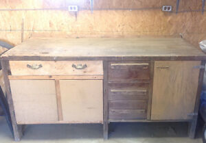 Old Wooden Work Bench