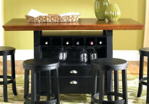 Dinning table with wine cabinet
