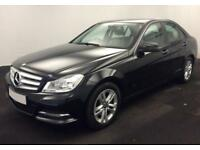 2014 BLACK MERCEDES C220 2.1 CDI EXECUTIVE SE DIESEL SALOON CAR FINANCE FR £37PW
