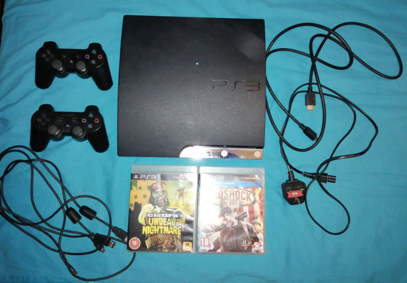 PS3 SLIM(160GB)+2 GAMES+2 WIRELESS PADS+CABLES+ POWER LEAD+HDMI CABLE | in  Southwark, London | Gumtree