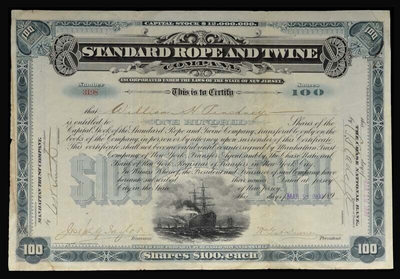 Standard Rope and Twine Company Stock