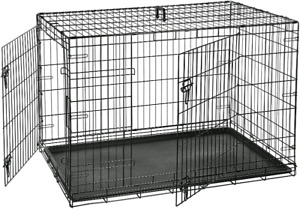 """Large 2 Door Dog Crate 48"""" x 30"""" with Divider"""