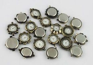 10PCS-Mixed-Lots-Antiqued-Bronze-Watch-Face-20960