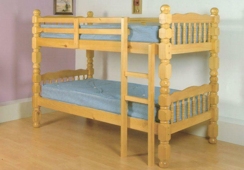 Solidly built antique pine bunk bed in walthamstow for Gumtree bunk beds