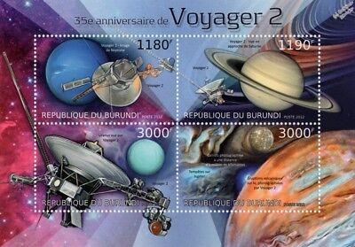 NASA/JPL VOYAGER 2 Planetary Exploration Space Probe Stamp Sheet (2012 Burundi)