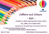 Caffeine and Colours Adult Colouring Night