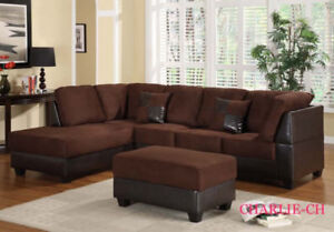 LARGE SECTIONAL SET WITH FREE STORAGE OTTOMAN