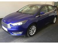 2016 BLUE FORD FOCUS 1.5 TDCI 120 TITANIUM DIESEL 5DR CAR FINANCE FR £37 PW