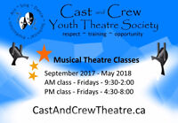 Musical Theatre Classes - Cast and Crew Youth Theatre Society