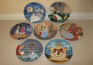 7 collector plates from Walt Disney's Cinderella