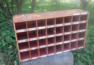 Vintage Industrial Machinist Cubby Hole Metal Cabinet