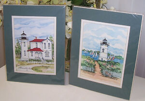 Set of  2 Collectors Series Great American Light House Prints London Ontario image 1