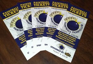 Five (5) PaintBall Tickets