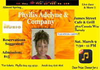 """Phyllis Adelyne & Company """"Almost Spring Show Jazz & More!"""