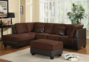 FALL SALE ON NOW   3PCS SECTONAL WITH FREE OTTOMAN $599 LOWEST PRICES GUARANTEED