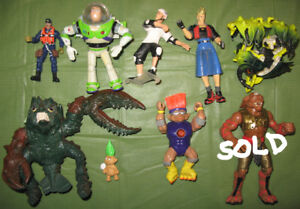 Various 80s-90s Collectible Loose Action Figures / Vehicles