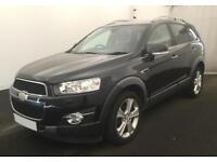 2012 BLACK CHEVROLET CAPTIVA 2.2 VCDI 184 LTZ 7 SEAT AUTO CAR FINANCE FR £29 PW
