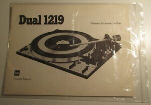 Dual 1219 Turntable Owner's Manual. English West Island Greater Montréal image 1