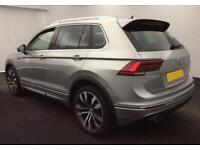 2016 SILVER VW TIGUAN 2.0 TDI 150 BMT 4MOTION R LINE DSG CAR FINANCE FR £92 PW