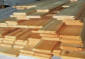 1 x 6 Knotty Pine Tongue & Groove V-Match for Ceiling & Flooring