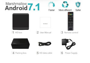 Android Box 7 TV IPTV 4K HD ★N WiFi ★16GB ★GREEK INDIAN FILIPINO