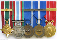 Medal mounting service (military/emergency svc/etc)