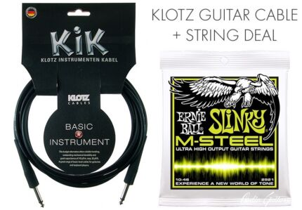 Klotz Guitar Cable PLUS Ernie Ball M-Steel 10-46 Gymea Sutherland Area Preview