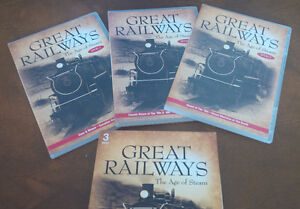 Great Railways The Age of Steam 3 DVD Set