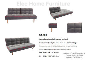 Brand New Fabric Split Back Sofa Bed 1.80M Long Clayton Monash Area Preview