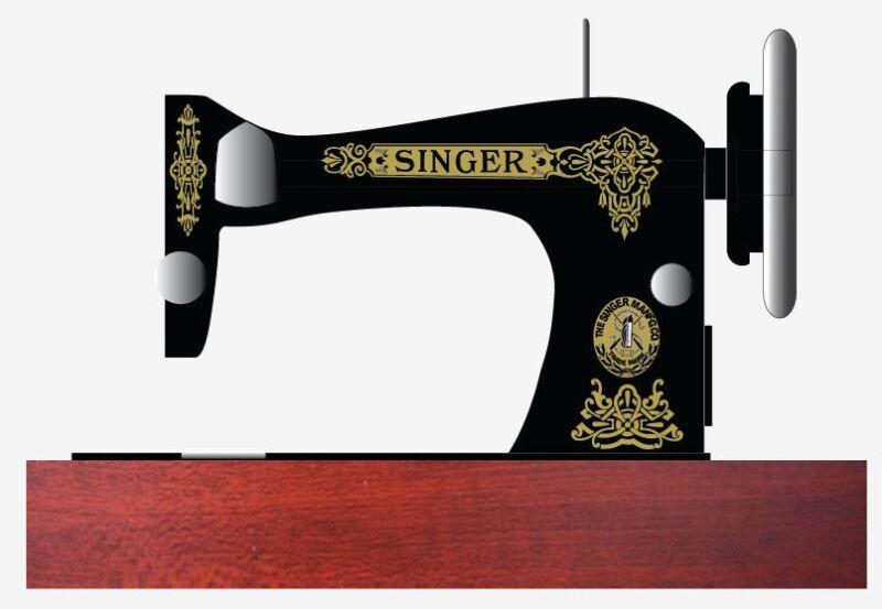 Singer Model 28/128 Celtic Style  Sewing Machine  Waterslide Restoration Decals