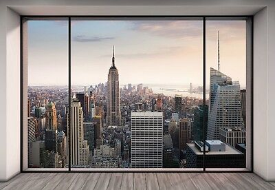 "Wall Mural NEW YORK CITY SKYLINE ""PENTHOUSE"" photo wallpaper 368x254cm wall art"