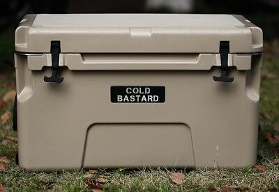 New Cold Bastard Pro Series Ice Chest Box Cooler Yeti Quality Free S H 50L Tan