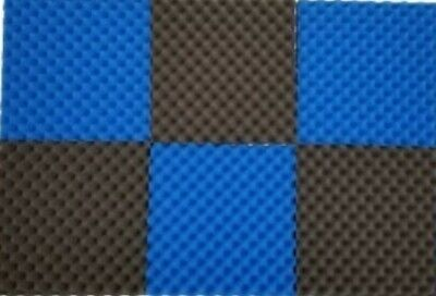 "6 PK Egg Crate Acoustic Foam Tile Panel Wall Tile Soundproofing 12"" x 12"" x 1.5"""