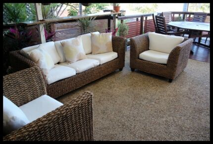 FOR SALE - 3 piece Wicker Cane Lounge Suite Bray Park Pine Rivers Area