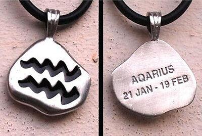 Aquarius Pendant Horoscope Sign Aquarius Charm Astrological Aquarius Necklace