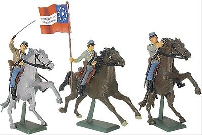 Britains Toy Soldiers Civil War Confederate Cavalry Set Deetail 1/32