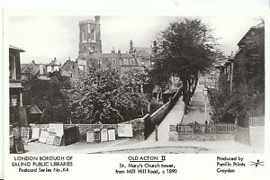 London-Postcard-Old-Acton-11-St-Marys-Church-Tower-from-Mill-Hill-Road-U768