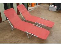 Pair of sun loungers in as new condition