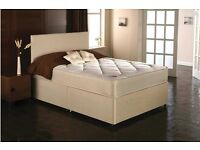 Double orthopaedic mattress and divan base, brand new with 12 months warranty