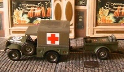 DODGE 4X4 SANITAIRE REMORQUE ACCESSOIRES SOLIDO 61010 1/50 US ARMY 1944