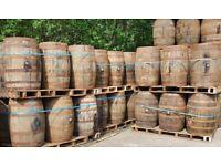 Solid oak barrels & half barrel planter pots