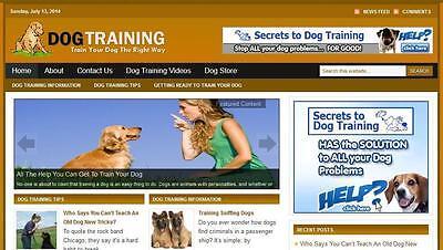 Dog Training Affiliate Website Free Installation Free Hosting