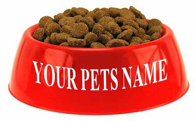 Personalized Custom Dog Name Vinyl Decal for Bowls Sticker Pet Dogs Puppies 6""