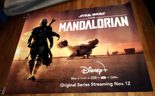 Disney + Disney Plus STAR WARS THE MANDALORIAN 5FT SUBWAY POSTER 2019