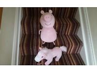 Peppa pig teddy and horse